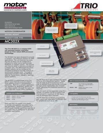 MC302X data sheet.indd - Motor Technology Ltd