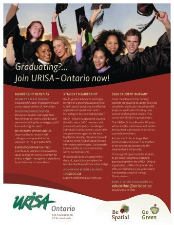Download Student flyer - URISA Ontario