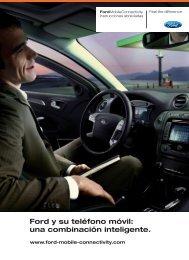 Ford y su teléfono móvil: una combinación inteligente.