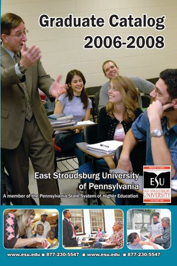 Graduate Catalog 2006-2008 - East Stroudsburg University