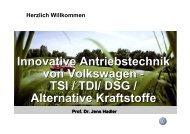 Innovative Antriebstechnik von Volkswagen - TSI / TDI/ DSG ...