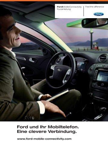 Ford und Ihr Mobiltelefon. Eine clevere Verbindung.
