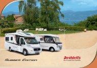 Preisliste/ Technische Daten Reisemobile Summer Edition - Dethleffs