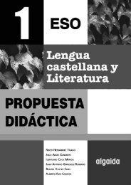 Proyecto curricular. PD Lengua Castellana y Literatura 1º ... - Algaida