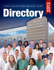Download a copy of the Physician Directory - King's Daughters ...