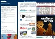 Gegenwarts - Helmstedter Universitätstage