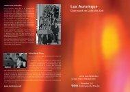 Lux Aurumque - Cantica Nova Holzkirchen
