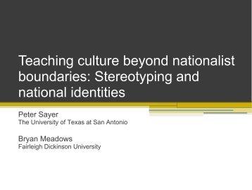 Teaching culture beyond nationalist boundaries ... - CERCLL