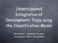 Unanticipated Integration of Development Tools using the ... - ESUG
