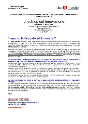 Il comunicato del Club TI delle Marche - Guide Share Italia