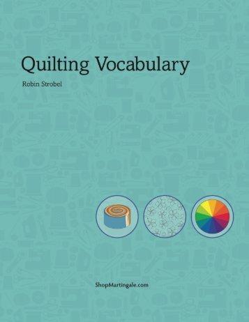 Quilting Vocabulary - ShopMartingale