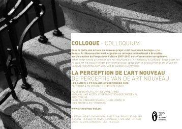 Programme et abstraits français - néerlandais - art nouveau news