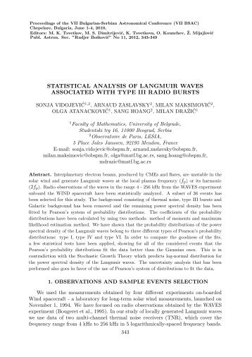 statistical analysis of langmuir waves associated with type iii radio ...