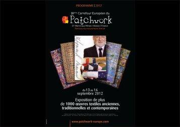 programme | 2012 - Carrefour Européen du Patchwork