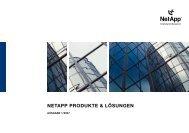 NetApp produKte & LÖSuNGeN - THE FOUNDERS