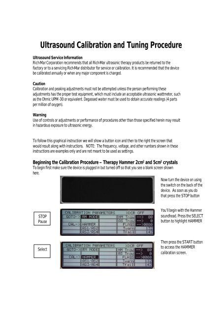 Calibration Procedure pdf - Rich-Mar Corporation