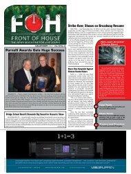 Strike Over, Shows on Broadway Resume - FOH Online