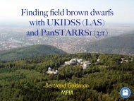 Finding field brown dwarfs with UKIDSS (LAS) and ... - AstroGrid wiki