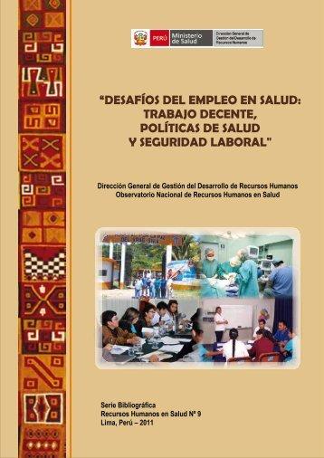 4. Normas Laborales Vigentes en el Sector Salud - BVS Minsa ...