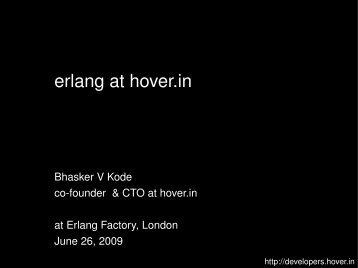 erlang at hover.in - Erlang Factory