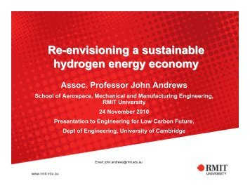 Re-envisioning a sustainable hydrogen energy economy
