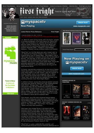 Horror Press Releases and Horror News from First Fright