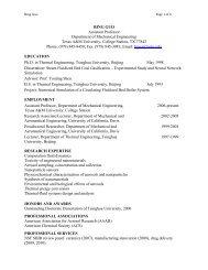 Guo CV May 2010 - Texas A&M University