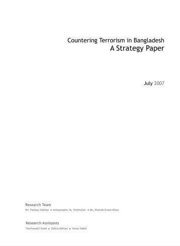 A Strategy Paper - Bangladesh Enterprise Institute