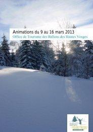 Animations du 9 au 16 mars 2013 - RemiremontInfo