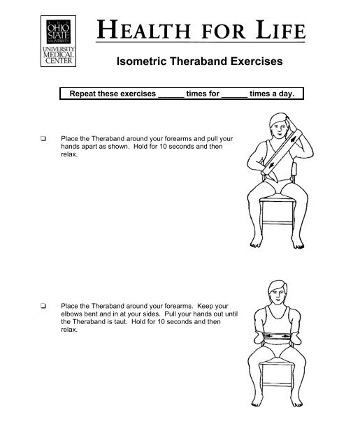 Isometric Theraband Exercises - Patient Education Home