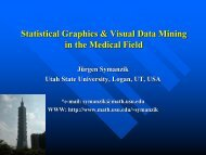 Statistical Graphics & Visual Data Mining in the Medical Field
