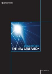 THE NEW GENERATION - Crestron Home
