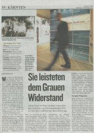 Kleine Zeitung - Elke Fertschey - Gerechtigkeit für die Opfer der NS ...