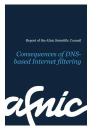 Consequences of DNS-based Internet filtering - Afnic
