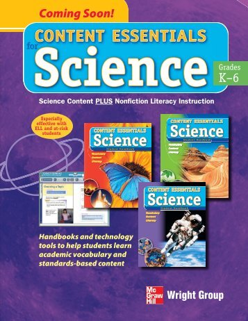 Content Essentials for Science Brochure - McGraw-Hill Ryerson