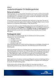 Stödplan och likabehandlingsplan (pdf) - Medborgarskolan