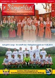 Ausgabe Mai 2011 - Druckservice Weiss
