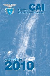 calendario calendario - CAI - sezione di Sesto San Giovanni