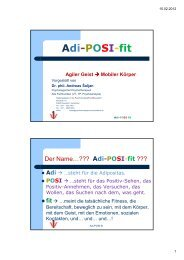 Adi-POSI-fit - Akademie