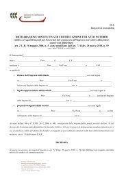 All.1 Requisiti di onorabilità DICHIARAZIONE SOSTITUTIVA DI ...