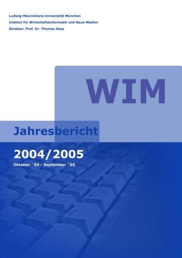 Forschung - Institut für Wirtschaftsinformatik und neue Medien ...