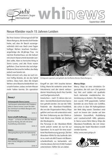 September 2008 (PDF 1.66 mb) - Women's Hope International