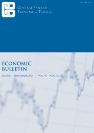 Economic Bulletin Vol VI - Central Bank of Trinidad and Tobago