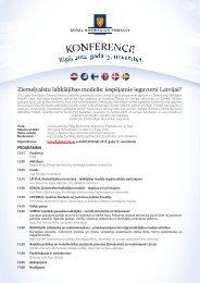 Konferences programma - Ziemeļu Ministru padomes birojs Latvijā