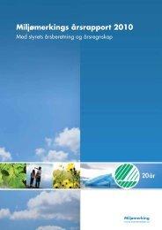 Miljømerkings årsrapport 2010 - Svanemerket