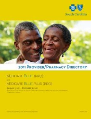 2011 Provider/Pharmacy Directory - Blue Cross and Blue Shield of ...