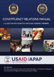 Constituency Relations Manual - Center for International Development