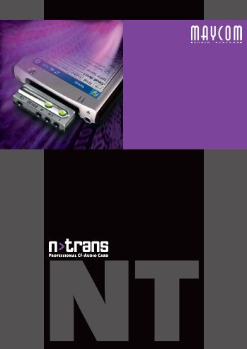 Brochure N>Trans - Professional Audio Card - MAYCOM Audio ...