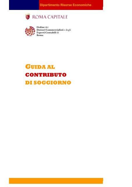 Guida al Contributo di Soggiorno versione italiana - Roma