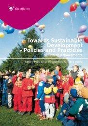 Towards Sustainable Development – Policies and ... - Väestöliitto